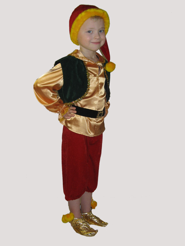 Детский костюм гнома для мальчика своими руками 100